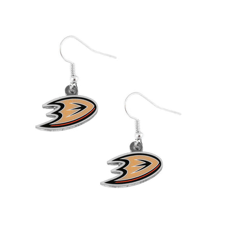 Anaheim Ducks Earrings - Logo Dangle Earrings