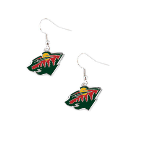 Minnesota Wild Logo Dangle Earrings