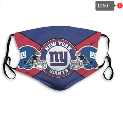 New York Giants Face Mask - Reuseable, Fashionable, Several Styles