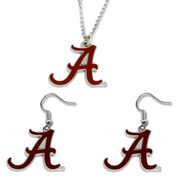 Alabama Crimson Tide Necklace & Earrings Set - Logo Charm
