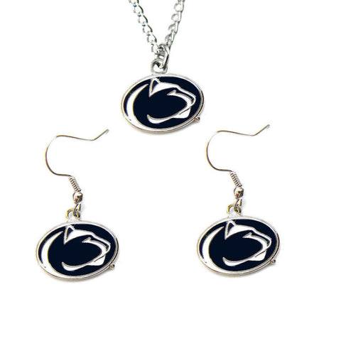 Penn State Nittany Lions Charm Necklace & Earrings Set