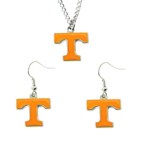 Tennessee Volunteers Charm Necklace & Earrings Set
