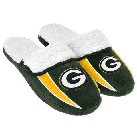 Green Bay Packers Slippers - Sherpa Slide Slippers