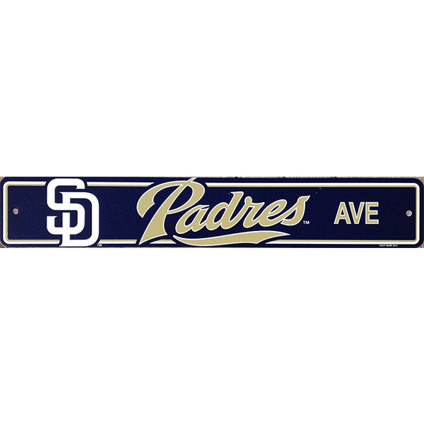 "San Diego Padres Street Sign - 4""x24"""