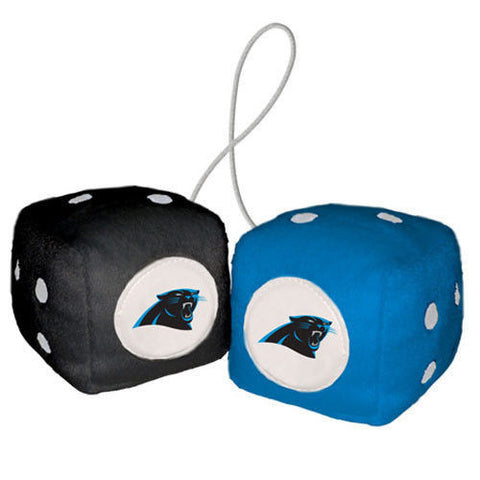 Carolina Panthers Dice - Plush Fuzzy Dice