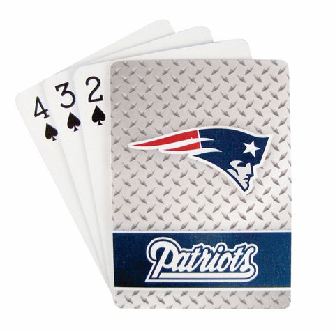 New England Patriots Playing Cards -Diamond Plate