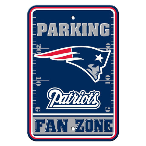 "New England Patriots Sign - Parking Sign - 12"" x 18"""