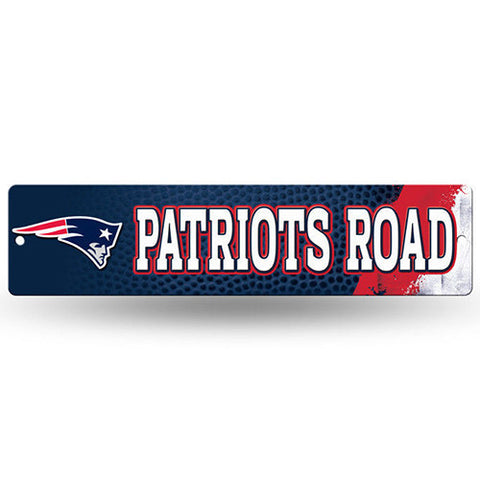"New England Patriots Sign - Street Sign - 3.75"" x 16"""