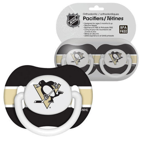 Pittsburgh Penguins Baby Pacifiers - Pack Of 2