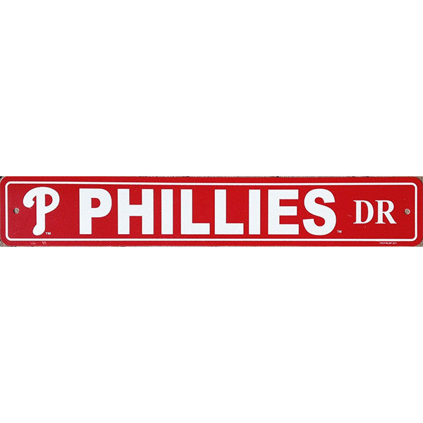 "Philadelphia Phillies Street Sign - 4""x24"""