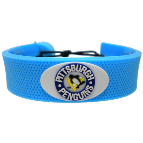 Pittsburgh Penguins Rubber Hockey Bracelet