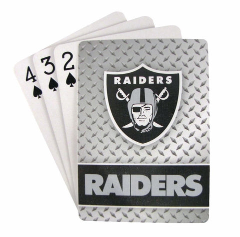 Oakland Raiders Playing Cards -Diamond Plate