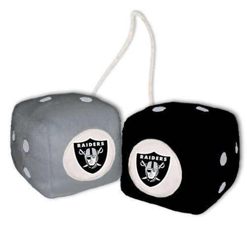 Oakland Raiders Dice - Plush Fuzzy Dice