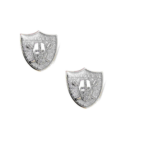 Oakland Raiders Earrings - Glitter Logo Stud Earrings