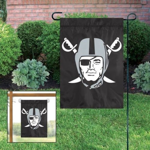 "Oakland Raiders Flag - Indoor/Outdoor 15""x10"" Garden Flag"