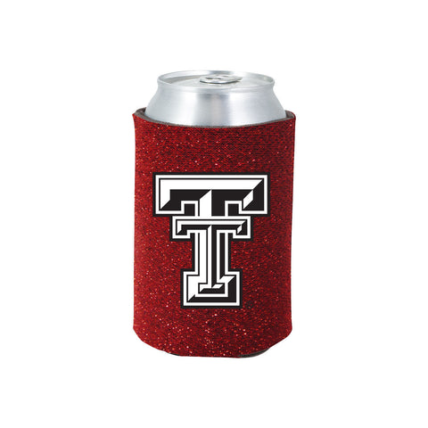 Texas Tech Raiders Glitter Can Koozie
