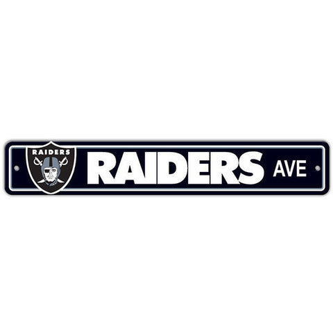 "Oakland Raiders Sign - Street Sign - 4""x24"""