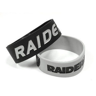 Oakland Raiders Bracelet - Rubber Wrist Bands