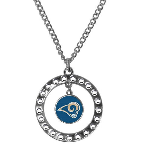 St. Louis Rams Rhinestone Hoop Necklace