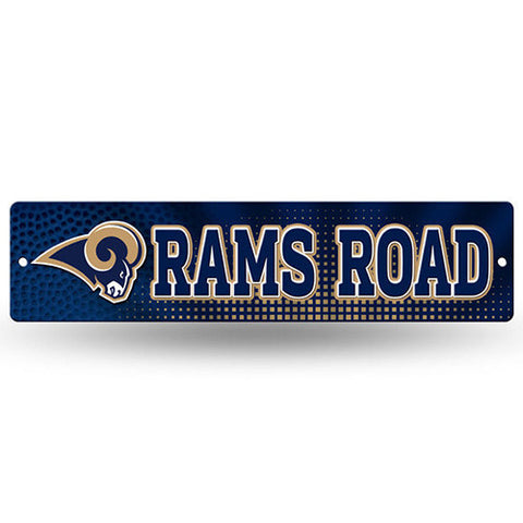 "Los Angeles Rams Street Sign - 3.75"" x 16"""