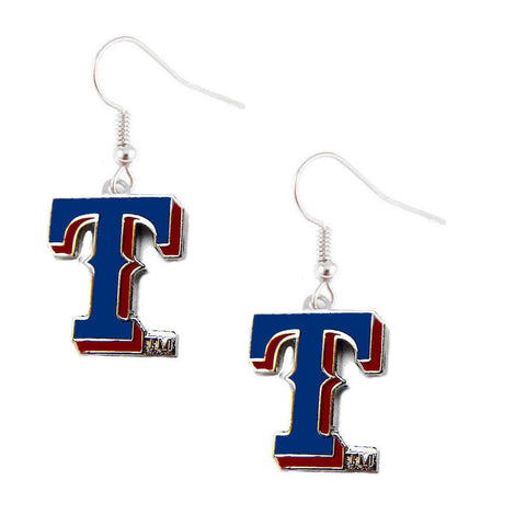 Texas Rangers Logo Dangle Earrings
