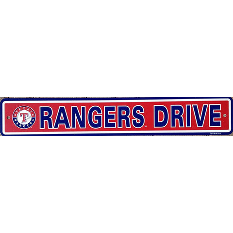 "Texas Rangers Street Sign - 4""x24"""