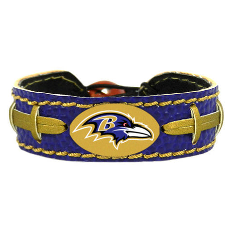 Baltimore Ravens Bracelet - Leather Football Bracelet