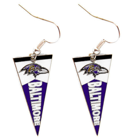 Baltimore Ravens Earrings - Pennant Earrings