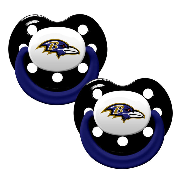 Baltimore Ravens Baby Pacifiers - Pack Of 2