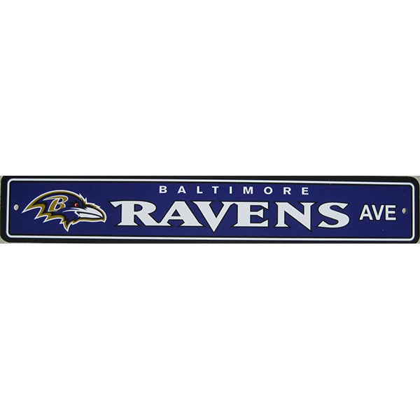 "Baltimore Ravens Sign- Street Sign - 4""x24"""