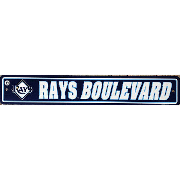"Tampa Bay Rays Street Sign - 4""x24"""