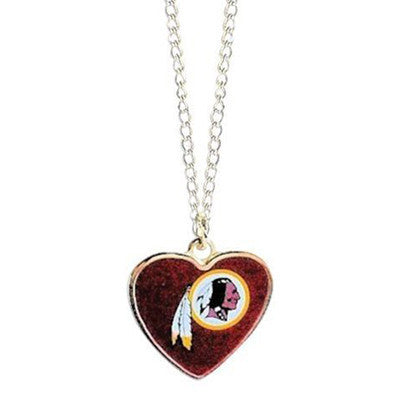 Washington Redskins Necklace - Logo Heart Necklace