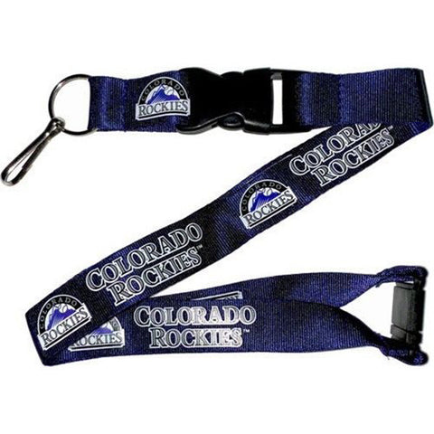Colorado Rockies Lanyard - Detachable Keychain