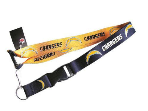 Los Angeles Chargers reversible lanyard - keychain badge holder