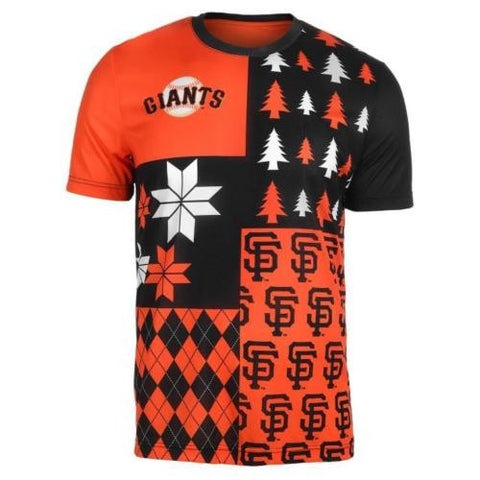 San Francisco Giants Shirt - Mens Busy Block Style Ugly T-Shirt