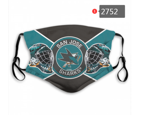 San Jose Sharks Face Mask - Reuseable, Fashionable, Washable, Several Styles