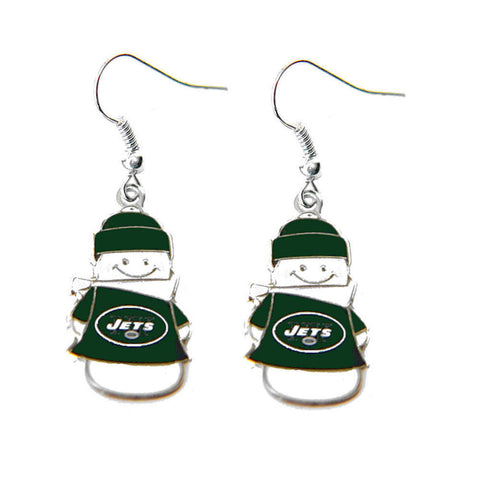 New York Jets Snowman Dangle Earrings