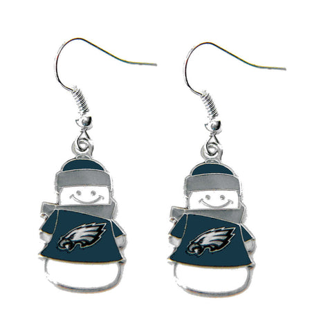 Philadelphia Eagles Earrings - Snowman Dangle Earrings