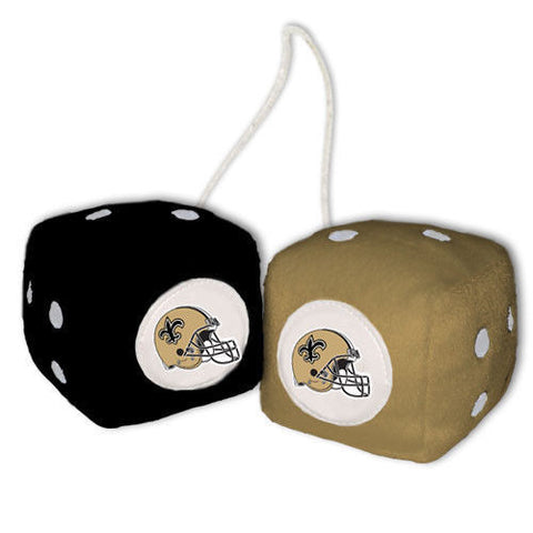 New Orleans Saints Dice - Plush Fuzzy Dice