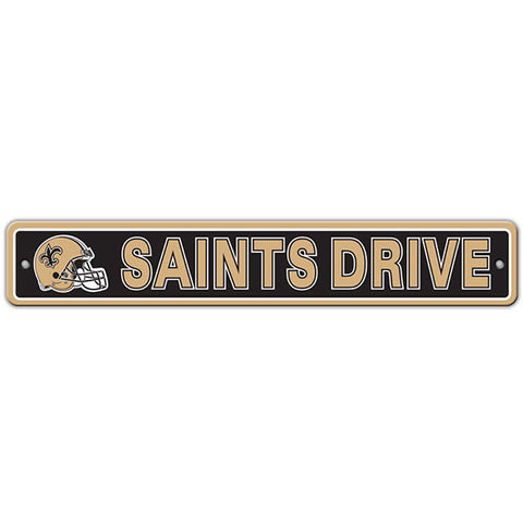 "New Orleans Saints Street Sign - 4""x24"""
