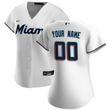 Miami Marlins Jersey - Custom Name and Number - Women's White