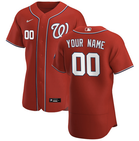 Washington Nationals Jersey - Custom Name and Number - Red
