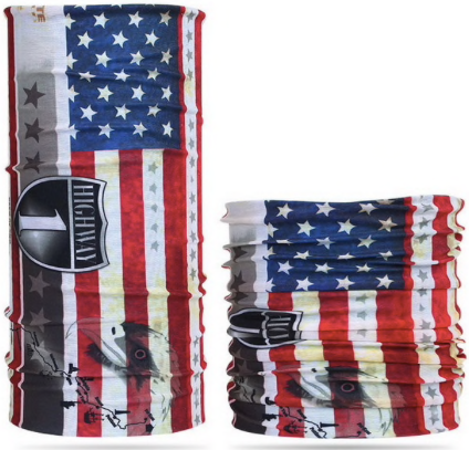 A Bandana Scarf Face Mask - Neck Gaiter, American Flag, Reuseable, Fashionable, Washable