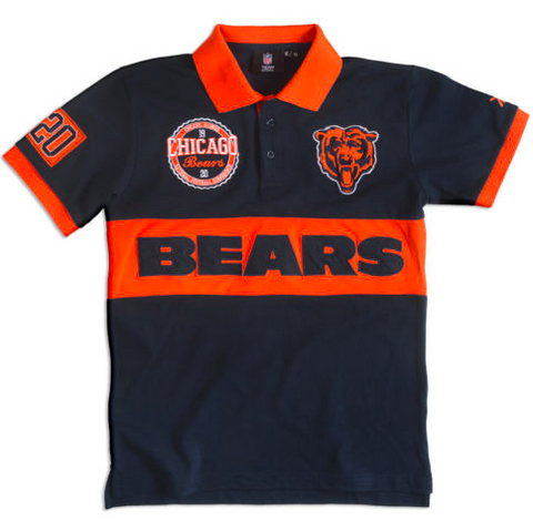 Chicago Bears Shirt - Logo Cotton Wordmark Rugby Shirt