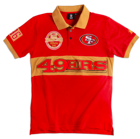 bd2e2a375d7 San Francisco 49ers Shirt - Logo Cotton Wordmark Rugby Shirt ...