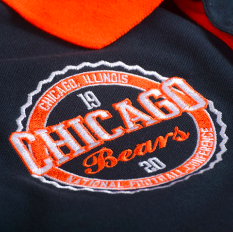 100% authentic 709d6 fe2c2 Chicago Bears Shirt - Logo Cotton Wordmark Rugby Shirt