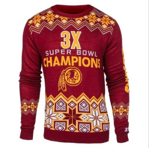 Washington Redskins Sweater - Super Bowl Commemorative Crew Neck Sweater