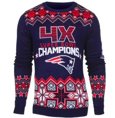 New England Patriots Sweater - Super Bowl Commemorative Crew Neck Sweater