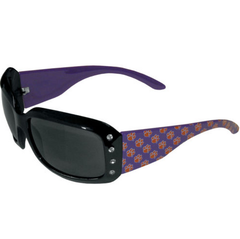 Clemson Tigers Sunglasses - Ladies Rhinestone Sunglasses.