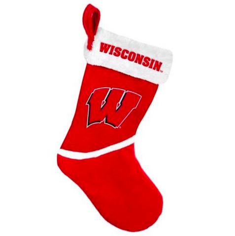 Wisconsin Badgers Christmas Stocking -Colorblock